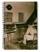 Coca Cola Bottling Line 1950s Spiral Notebook