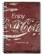 Coca Cola Faded Sign Spiral Notebook