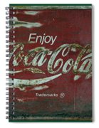 Coca Cola Green Grunge Sign Spiral Notebook