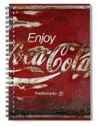 Coca Cola Red Grunge Sign Spiral Notebook