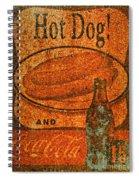 Coca Cola Rusty Sign Spiral Notebook