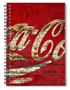 Coca Cola Sign Cracked Paint Spiral Notebook