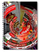 Coca Cola Signs In The Round Posterized Spiral Notebook