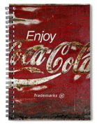 Coca Cola Wood Grunge Sign Spiral Notebook