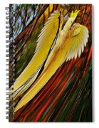 Cockatoo In Abstract Spiral Notebook