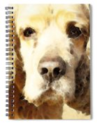 Cocker Spaniel Art - Mellow Yellow Spiral Notebook