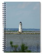 Cockspur Island Light Spiral Notebook