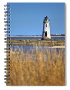 Cockspur Lighthouse In The Sanannah River Spiral Notebook