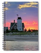 Cocktail Hour At Sandy Neck Lighthouse Spiral Notebook