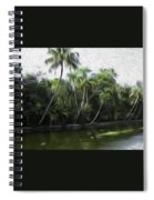 Coconut Trees And Other Plants Lined Up Spiral Notebook