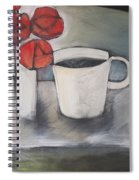 Coffee And Roses Spiral Notebook
