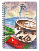 Coffee Break In Spili In Crete Spiral Notebook