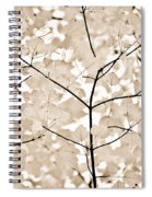 Coffee Brown Leaves Melody Spiral Notebook