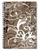 Coffee Flowers 1 Spiral Notebook