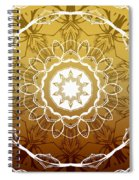 Coffee Flowers 1 Ornate Medallion Calypso Spiral Notebook