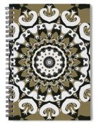 Coffee Flowers 10 Olive Ornate Medallion Spiral Notebook