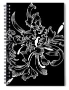 Coffee Flowers 11 Bw Spiral Notebook