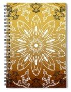 Coffee Flowers 11 Calypso Ornate Medallion Spiral Notebook