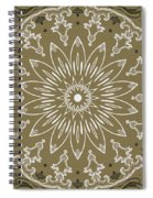 Coffee Flowers 11 Olive Ornate Medallion Spiral Notebook
