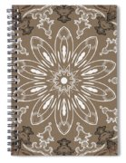 Coffee Flowers 11 Ornate Medallion Spiral Notebook