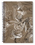 Coffee Flowers 2 Spiral Notebook