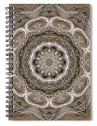 Coffee Flowers 2 Ornate Medallion Spiral Notebook