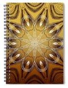 Coffee Flowers 4 Calypso Ornate Medallion Spiral Notebook