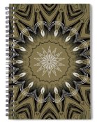 Coffee Flowers 4 Olive Ornate Medallion Spiral Notebook