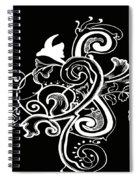 Coffee Flowers 5 Bw Spiral Notebook