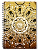 Coffee Flowers 5 Calypso Ornate Medallion Spiral Notebook