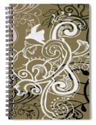 Coffee Flowers 5 Olive Spiral Notebook