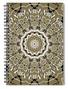 Coffee Flowers 5 Olive Ornate Medallion Spiral Notebook