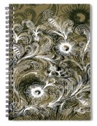 Coffee Flowers 6 Olive Spiral Notebook
