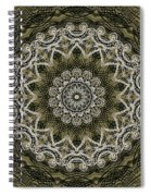 Coffee Flowers 6 Olive Ornate Medallion Spiral Notebook