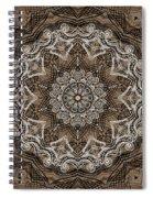 Coffee Flowers 6 Ornate Medallion Spiral Notebook