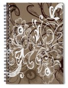 Coffee Flowers 7 Spiral Notebook