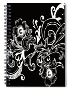 Coffee Flowers 7 Bw Spiral Notebook