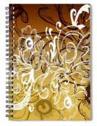 Coffee Flowers 7 Calypso Spiral Notebook