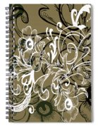 Coffee Flowers 7 Olive Spiral Notebook