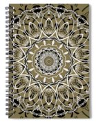 Coffee Flowers 7 Olive Ornate Medallion Spiral Notebook