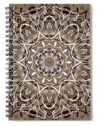Coffee Flowers 7 Ornate Medallion Spiral Notebook