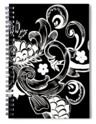 Coffee Flowers 8 Bw Spiral Notebook