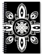 Coffee Flowers 8 Bw Ornate Medallion Spiral Notebook