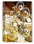 Coffee Flowers 8 Calypso Spiral Notebook