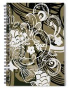 Coffee Flowers 8 Olive Spiral Notebook