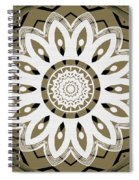 Coffee Flowers 8 Olive Ornate Medallion Spiral Notebook