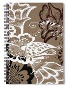 Coffee Flowers 9 Spiral Notebook