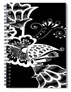 Coffee Flowers 9 Bw Spiral Notebook