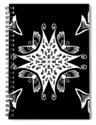 Coffee Flowers 9 Bw Ornate Medallion Spiral Notebook