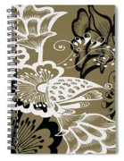 Coffee Flowers 9 Olive Spiral Notebook